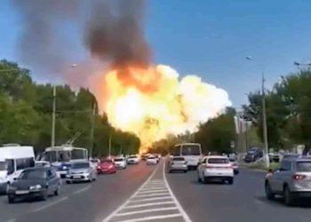massive explosion in russia